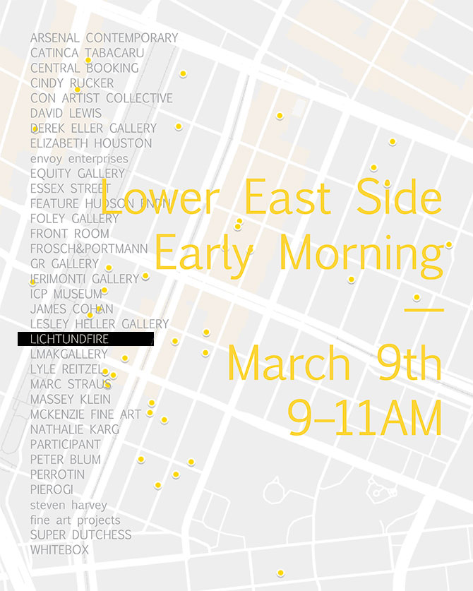 SPECIAL ARMORY WEEK LES EARLY MORNING March 2018 @ Lichtundfire