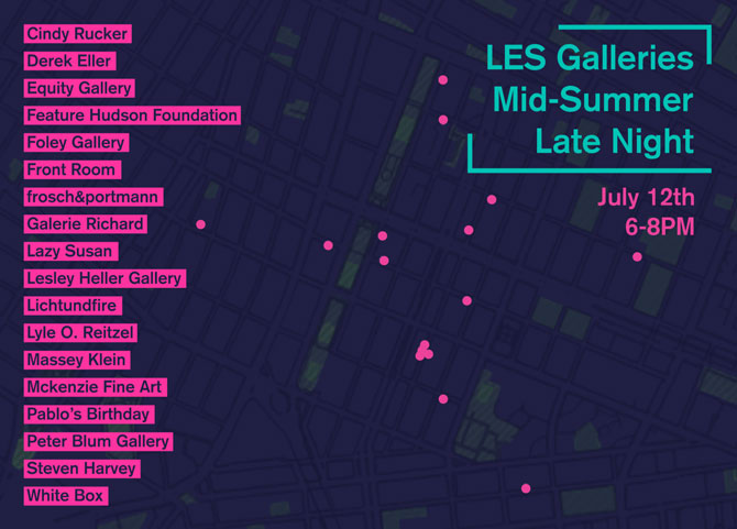 LES GALLERIES MID-SUMMER LATE NIGHT 2018 @ Lichtundfire